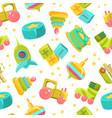 chidren toys seamless pattern design element can vector image