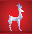 christmas reindeer paper origami vector image vector image