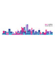 city scape with colorful various buildings vector image vector image