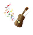 classical guitar brown vector image vector image