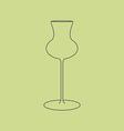 Cognac glass icon vector image vector image