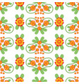 colorful floral folk seamless pattern vector image