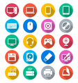 Computer flat color icons vector image vector image