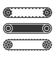 conveyor belt line set on white background vector image vector image