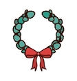 crown Christmas ornament with red ribbon vector image vector image