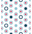 dotted seamless pattern in aqua colors palette vector image vector image