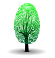 Fingerprint tree vector image vector image