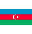 Flag of Azerbaijan vector image vector image