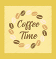 flat shading style icon coffee time logo vector image vector image