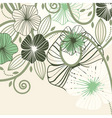 flowers and blots vector image vector image