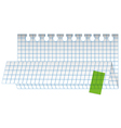 folded checked paper sheet vector image vector image