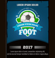 football soccer poster template vector image
