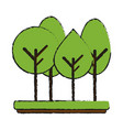 forest trees hill icon image vector image vector image