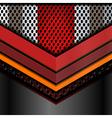 geometric metallic abstract backgrounds vector image vector image
