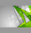 green grey tech material background with bokeh vector image vector image