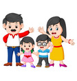 happy family doing posing with the good expression vector image vector image