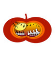 happy ghosts on halloween night with paper cut art vector image vector image