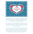 happy independence day poster heart shape label vector image vector image