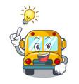 have an idea school bus mascot cartoon vector image
