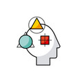 head geometric vector image