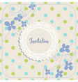 Invitation album or greeting card template vector image