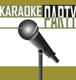 Karaoke party background vector image vector image