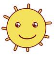 kawaii happy bright sun rays vector image