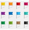 location pin flags set isolated transparent vector image vector image