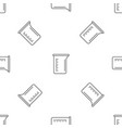 measurement pot pattern seamless vector image