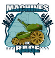 panzer on a blue background vector image