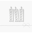 paper candles vector image