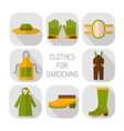 protective clothing for working in the garden vector image vector image