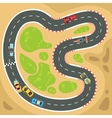 Racing computer and app game background vector image vector image