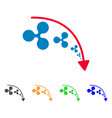 ripple reduce trend icon vector image vector image