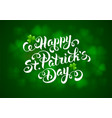 saint patricks day calligraphic design vector image vector image