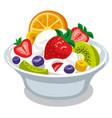 salad with yogurt vector image vector image