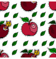 seamless pattern in cartoon style apples apple vector image
