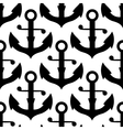 Seamless pattern of nautical black anchors vector image vector image