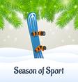 Season of sport blue snowboard vector image