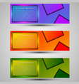 set of colored banners templateconcept design vector image vector image