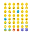 Set of Easter eggs emoticons emoji set vector image vector image