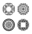 set of ethnic ornamental circles vector image vector image
