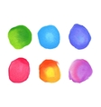 set rainbow watercolor circles stains vector image