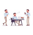 smart casual man in office vector image