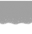 soap foam and bubbles on grey background vector image vector image