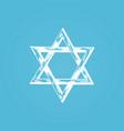 star of david hand drawn judaic vector image vector image