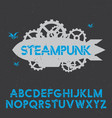 stylish design steampunk poster vector image