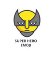 super hero emoji line icon sign vector image