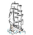 tall ship vector image