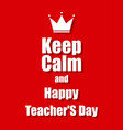 teachers day background with a red background vector image vector image